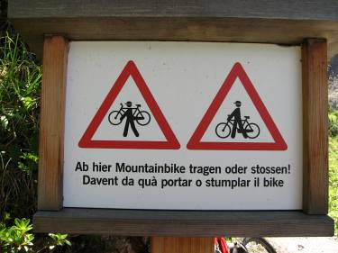Schild Mountainbike